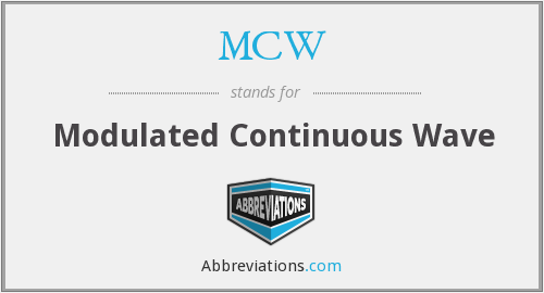 MCW - Modulated Continuous Wave