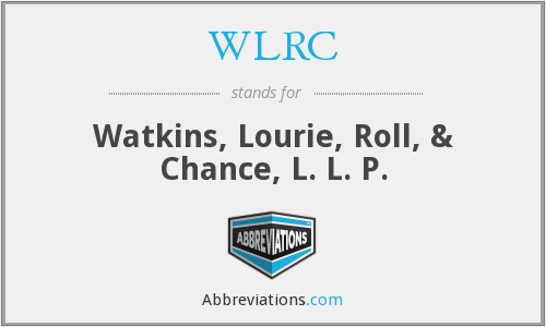 What does WLRC stand for?