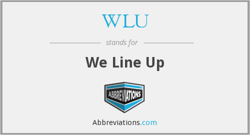 WLU - We Line Up