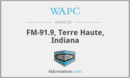 WAPC - FM-91.9, Terre Haute, Indiana