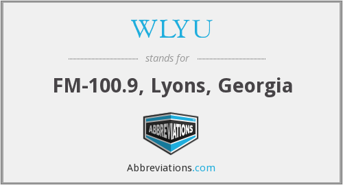 What does WLYU stand for?
