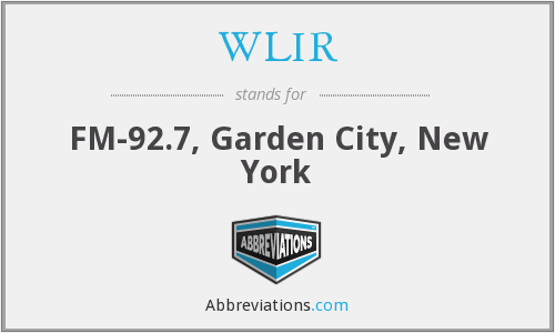 What does WLIR stand for?