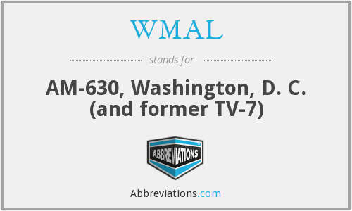 What does WMAL stand for?