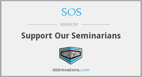 SOS - Support Our Seminarians