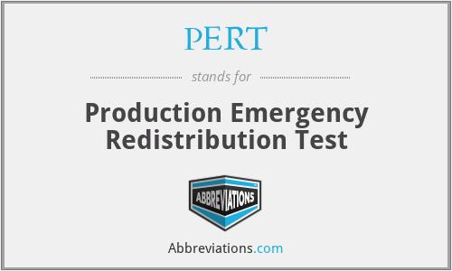 PERT - Production Emergency Redistribution Test