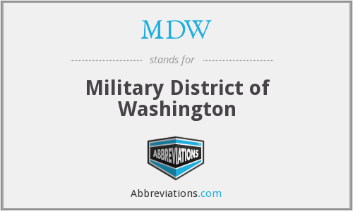 MDW - Military District of Washington