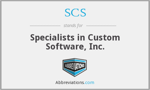 SCS - Specialists in Custom Software, Inc.
