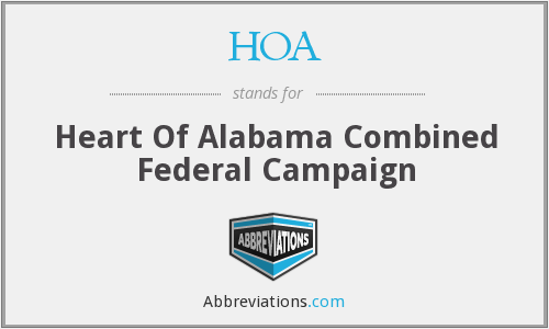 HOA - Heart Of Alabama Combined Federal Campaign