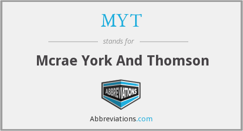 MYT - Mcrae York And Thomson