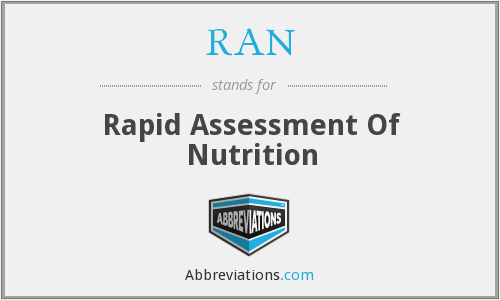 RAN - Rapid Assessment Of Nutrition