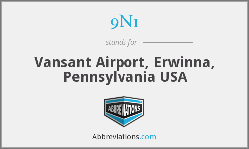 9N1 - Vansant Airport, Erwinna, Pennsylvania USA