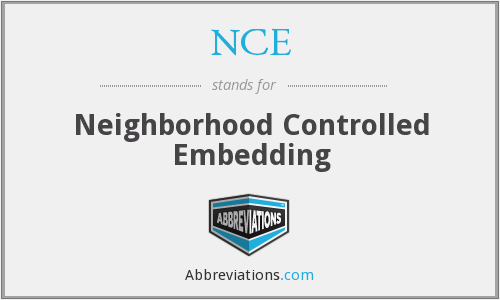 NCE - Neighborhood Controlled Embedding
