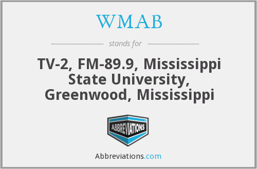 WMAB - TV-2, FM-89.9, Mississippi State University, Greenwood, Mississippi