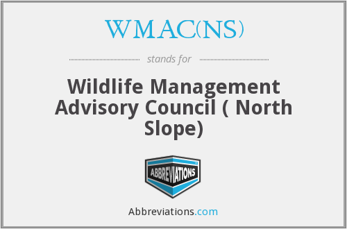 WMAC(NS) - Wildlife Management Advisory Council ( North Slope)