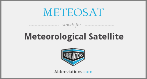 What does METEOSAT stand for?