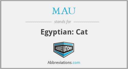 MAU - Egyptian: Cat
