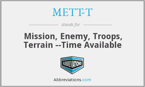 What does METT-T stand for?