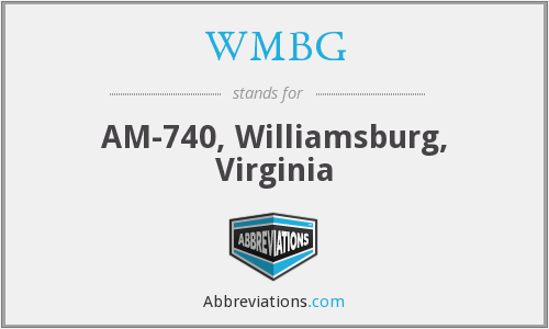 What does WMBG stand for?