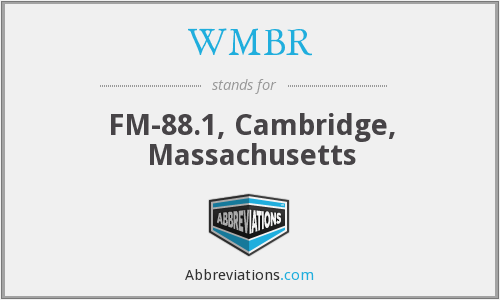 What does WMBR stand for?