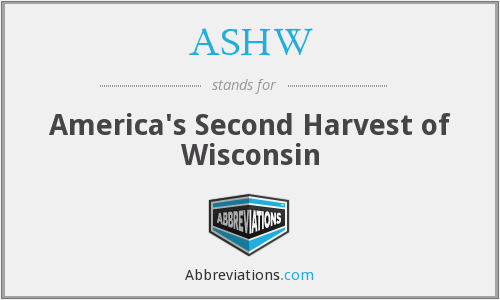 ASHW - America's Second Harvest of Wisconsin