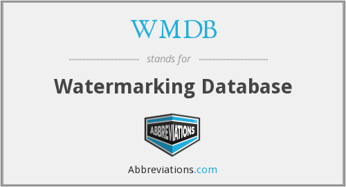 WMDB - Watermarking Database