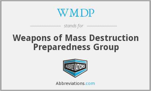 WMDP - Weapons of Mass Destruction Preparedness Group