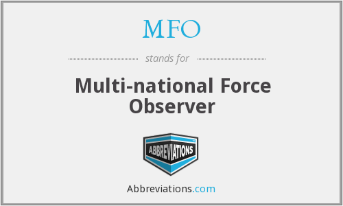 What does MFO stand for?
