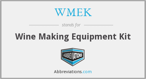 WMEK - Wine Making Equipment Kit