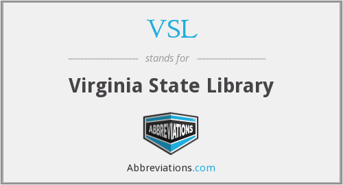 VSL - Virginia State Library