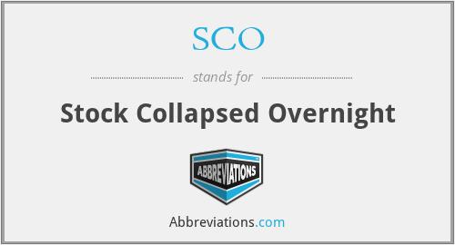 SCO - Stock Collapsed Overnight