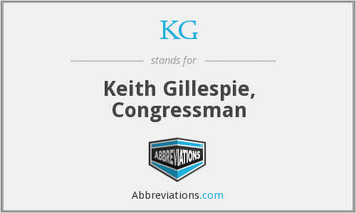 KG - Keith Gillespie, Congressman