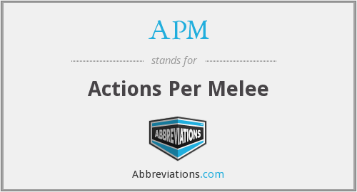 APM - Actions Per Melee