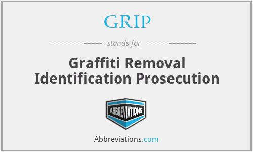 GRIP - Graffiti Removal Identification Prosecution