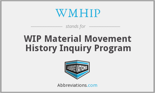 What does WMHIP stand for?