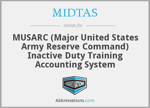 What does MIDTAS stand for?