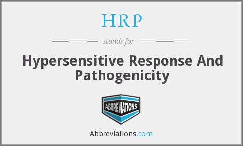 HRP - Hypersensitive Response And Pathogenicity