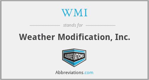 WMI - Weather Modification, Inc.