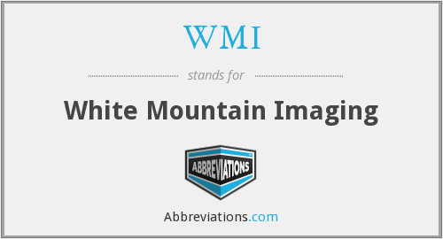 WMI - White Mountain Imaging