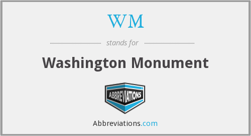 WM - Washington Monument