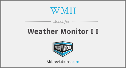 WMII - Weather Monitor I I