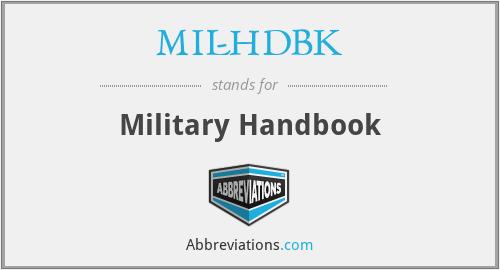 MIL-HDBK - Military Handbook