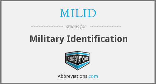 MILID - Military Identification