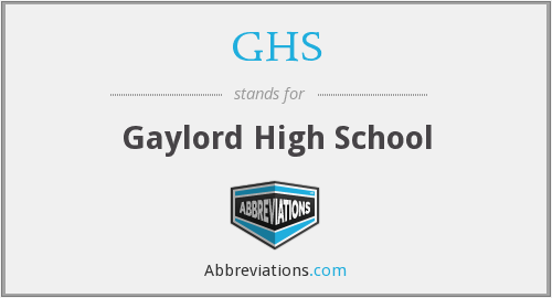 GHS - Gaylord High School