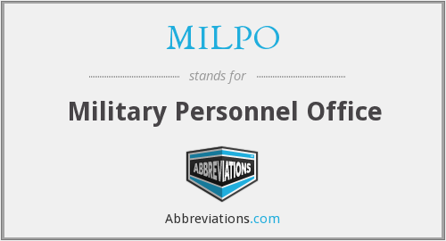 MILPO - Military Personnel Office