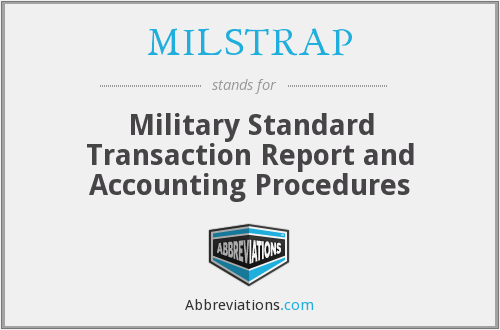 What does MILSTRAP stand for?