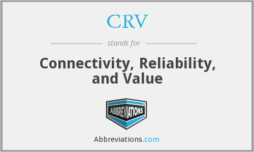 CRV - Connectivity, Reliability, and Value