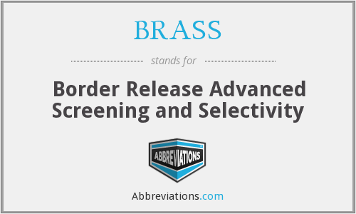 BRASS - Border Release Advanced Screening and Selectivity
