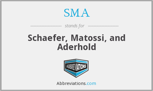 SMA - Schaefer, Matossi, and Aderhold