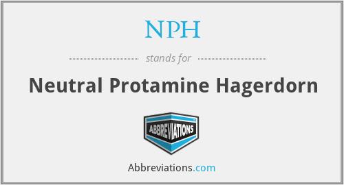 NPH - Neutral Protamine Hagerdorn