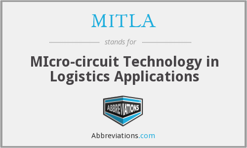 MITLA - MIcro-circuit Technology in Logistics Applications